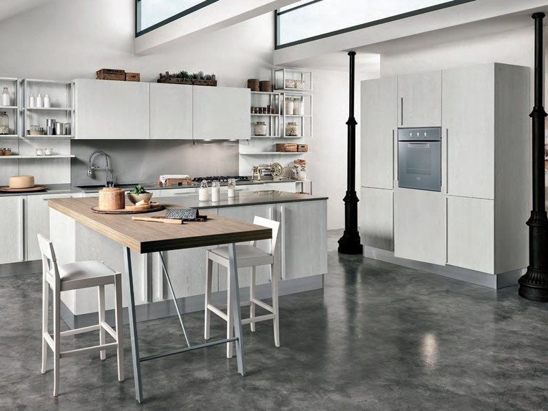Cucina Nuovi Mondi Cucine Cucina shabby chic legno white in offerta ...