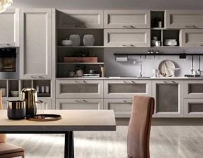 Cucina Nuovi mondi cucine design lineare tortora in legno Cucina legno vintage sabbia con ante lavagna