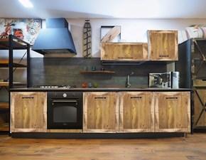 Cucina Nuovi mondi cucine industriale ad angolo rovere chiaro in legno Cucina industrail newport legno compresa di 2 colonne  in offerta