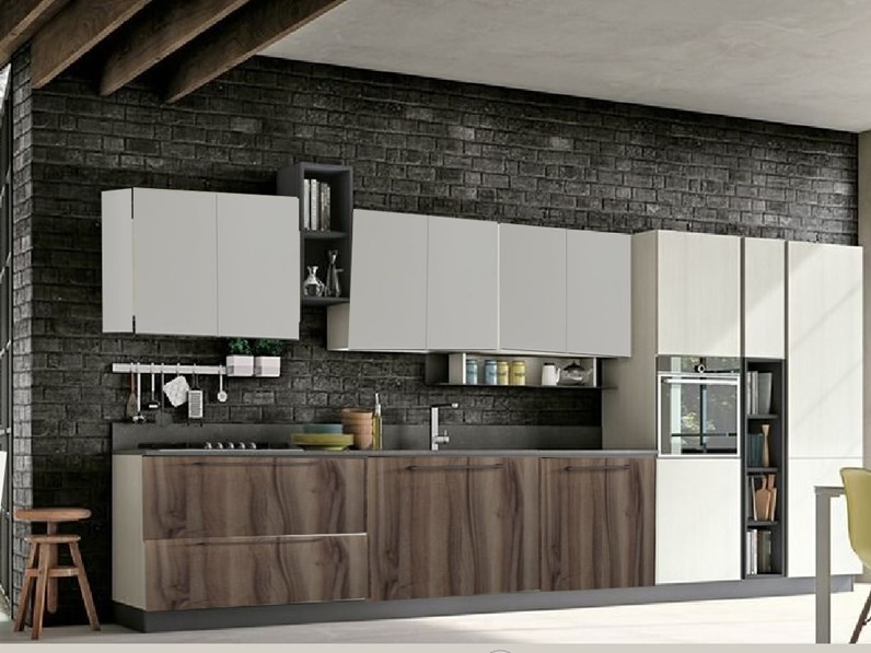 Cucina nuovi mondi cucine lineare cucina minimal moderna for Cucina minimal