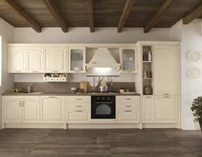 CUCINA Nuovi mondi cucine lineare Cucina modello shabby vintage  legno lineare white  SCONTATA