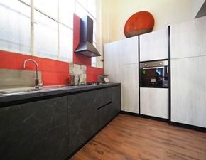 Cucina Nuovi mondi cucine moderna ad angolo grigio in laminato materico Cucina moderna colonne in super offerta