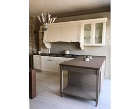 Cucina Oldline classica lineare bianca in legno Kaly