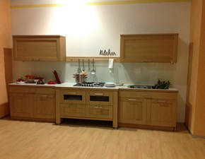 Cucina Oldline moderna lineare rovere chiaro in legno Eko