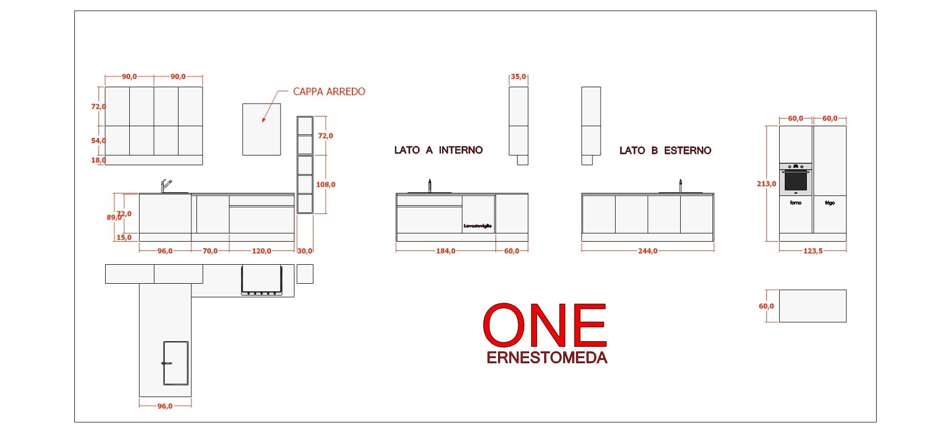 Mobili cucina dimensioni misure per mobili cucina misure - Cucina standard ...