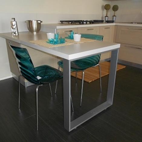 cucina con penisola scavolini modello open scontata del 40