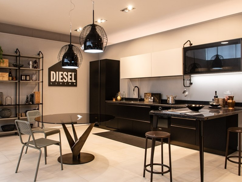 Cucina open work diesel with scavolini for Cucina diesel scavolini