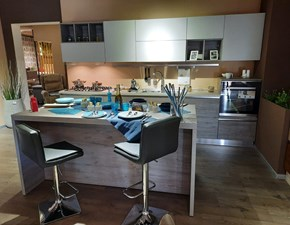 Cucina Oslo colors moderna grigio ad isola Gicinque