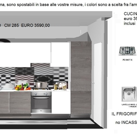 CUCINA OSLO su misura A PREZZO promozione - Cucine a prezzi scontati