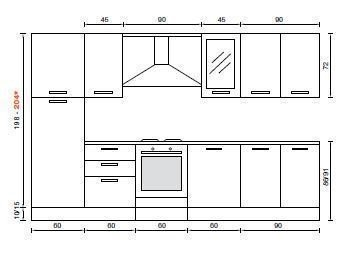 cucina con isola dimensioni nel caso di bancone. mobili da cucina ...