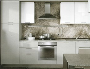 Cucina Paragon moderna bianca lineare Artec