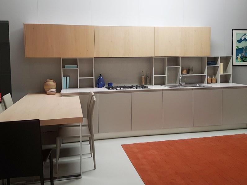 Cucina penis moderna tortora con penisola artigianale for Visma arredo cucine