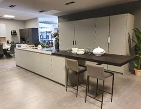 Cucina Prezioso moderna ad isola grigio in laminato opaco A.652 tecnomalta