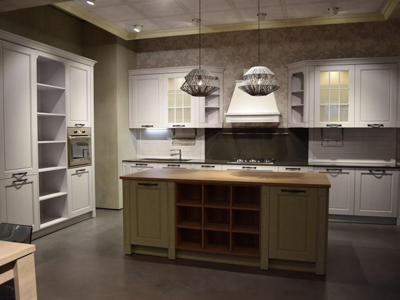 Cucina provenzale bianca stosa cucine ad isola virginia in offerta - Prezioso casa cucine ...