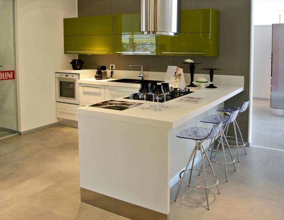 Cucina lineare con penisola jy03 regardsdefemmes - Cucina angolare con penisola ...