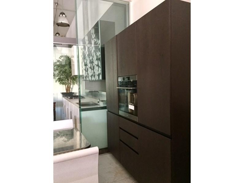 Cucina RB Rossana Etna - bianco lucido laccato - vetro decoro fly ...