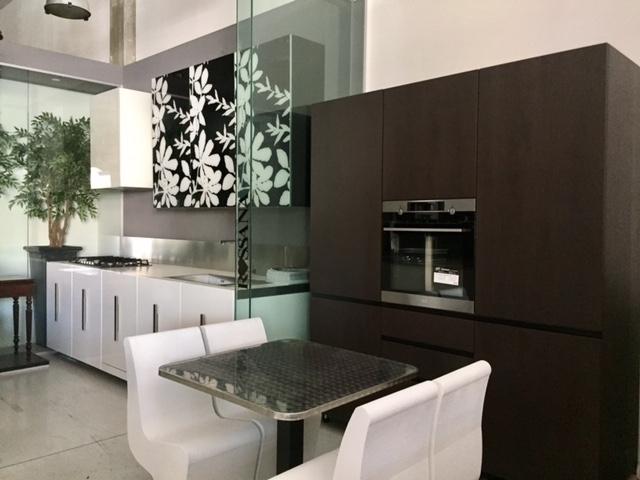Cucina rb rossana etna bianco lucido laccato vetro decoro fly colonne amalfi full quercia - Rossana cucine prezzi ...