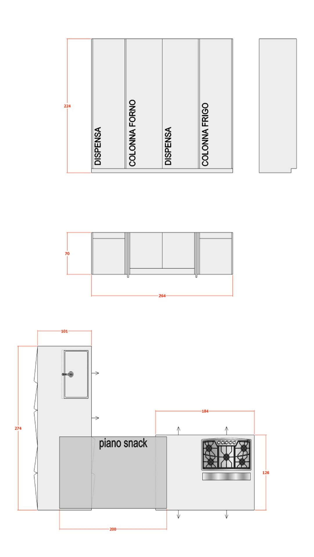 Dimensioni Lavandino Cucina Perfect Misure Standard Mobili Cucina