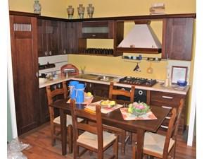 Cucina Record cucine classica ad angolo rovere moro in legno Virginia