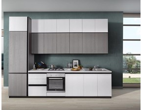 Cucina Réglisse moderna grigio lineare Emmebi