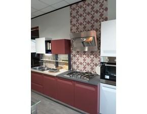 Cucina Rewind moderna rossa lineare Stosa cucine