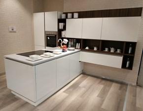Cucina Riflex moderna bianca con penisola Veneta cucine