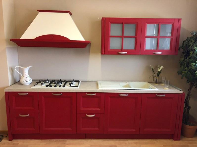 rossa lineare Country frassino laccato poro aperto di Gm cucine