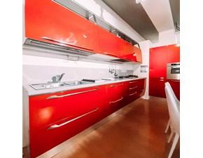 Cucina rossa design lineare Flux Scavolini