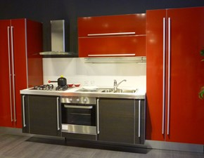 Cucina rossa moderna lineare Mirò Aran cucine in offerta
