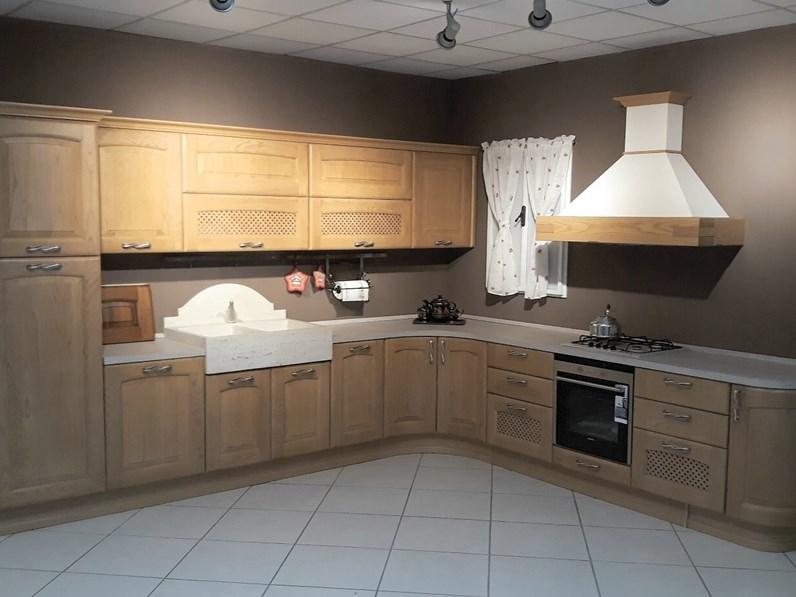 Cucina rovere chiaro classica ad angolo Veronica Lube cucine