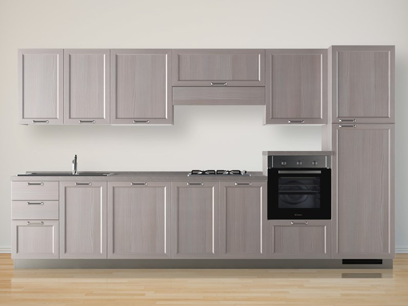 Cucina rovere chiaro country lineare Highland Scavolini in Offerta Outlet