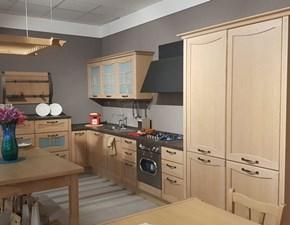 Cucina rovere chiaro design ad angolo Aurea Lube cucine