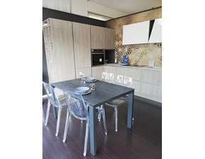 Cucina rovere chiaro design ad angolo Infinity/diagonal Stosa cucine in Offerta Outlet