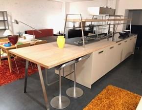 Cucina rovere chiaro design ad isola Ks lab Del tongo