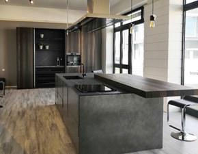 Cucina rovere chiaro design ad isola Mod vogue Binova