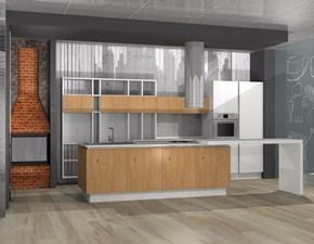 Cucina rovere chiaro design ad isola Volare   Aran cucine