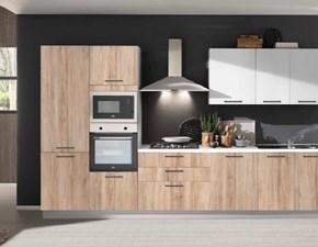 Cucina rovere chiaro design lineare Cleo Mobilturi cucine in Offerta Outlet