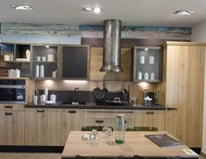 Cucina rovere chiaro design lineare Diesel Scavolini in Offerta Outlet
