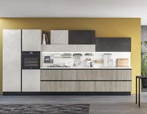 Cucina rovere chiaro design lineare Marylin Aran in Offerta Outlet