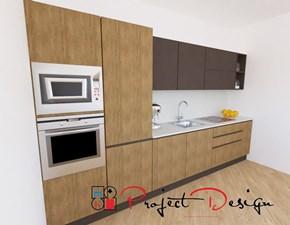 Cucina rovere chiaro design lineare Sp22 Astra in Offerta Outlet