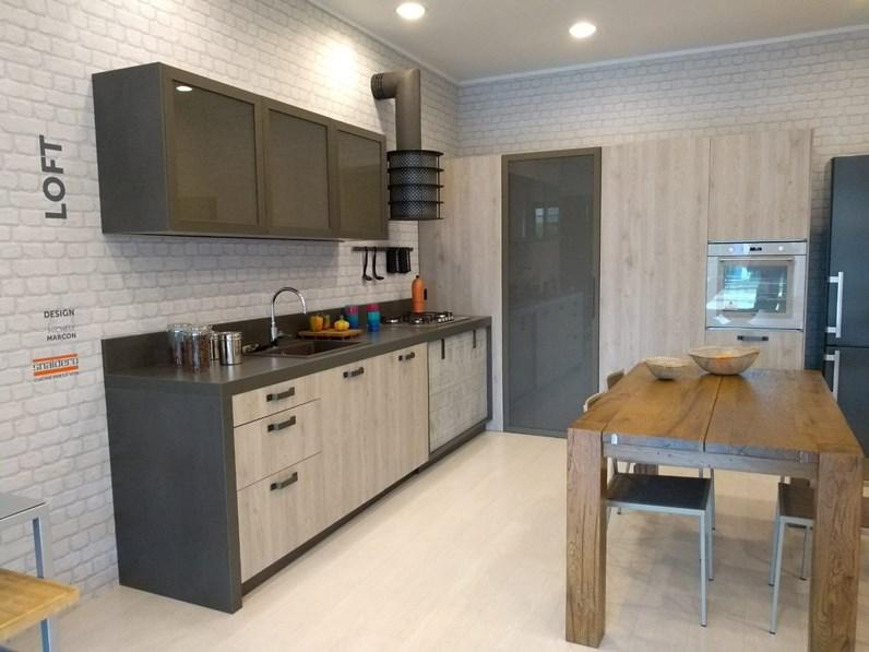 Cucina rovere chiaro industriale ad angolo Loft Snaidero in Offerta ...