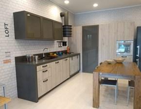 Cucina rovere chiaro industriale ad angolo Loft Snaidero in Offerta Outlet