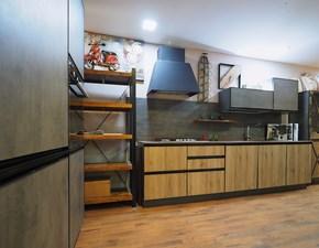 Cucina rovere chiaro industriale lineare Cucina industrial telaio  metallo    in offerta  Nuovi mondi cucine scontata