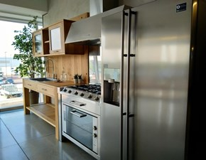 Cucina rovere chiaro industriale lineare Cucina keo+cucinotta foster+frigo samsung Foster
