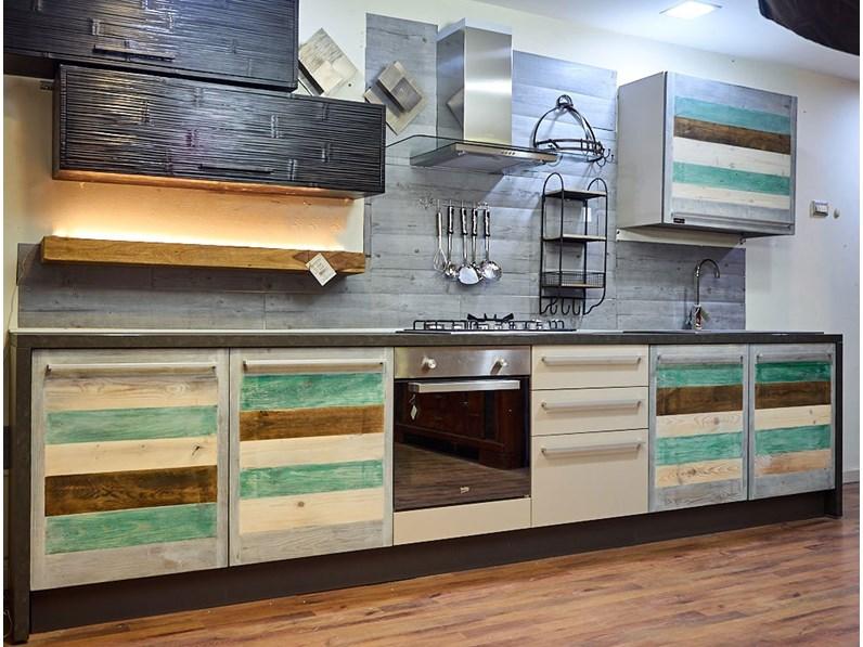 Cucina rovere chiaro industriale lineare Eco vintage Nuovi mondi ...