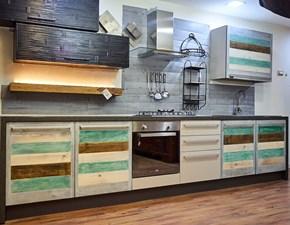 Cucina rovere chiaro industriale lineare Eco vintage  Nuovi mondi cucine in Offerta Outlet