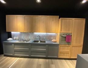 Cucina rovere chiaro industriale lineare Noah Prima cucine in Offerta Outlet