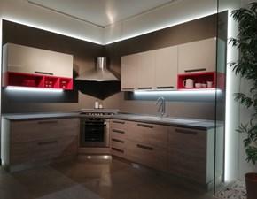 Cucina rovere chiaro moderna ad angolo Cloe Arredo3 in offerta