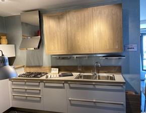 Cucina rovere chiaro moderna ad angolo Ethica decorativo e frame Veneta cucine in Offerta Outlet