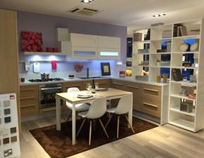 Cucina rovere chiaro moderna ad angolo Gallery Lube cucine in Offerta Outlet